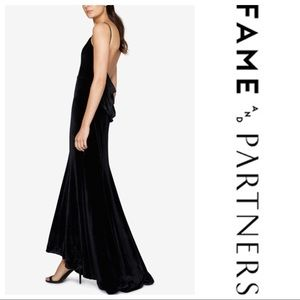 NWT Free People Fame Partners velvet draped gown